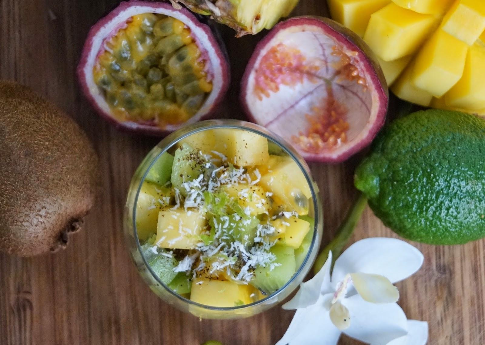 salade exotique sucree ananas mangue