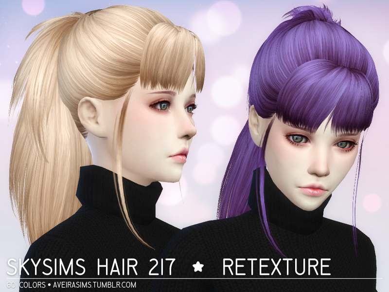 My Sims 4 Blog Skysims 217 Hair Retexture By Aveirasims