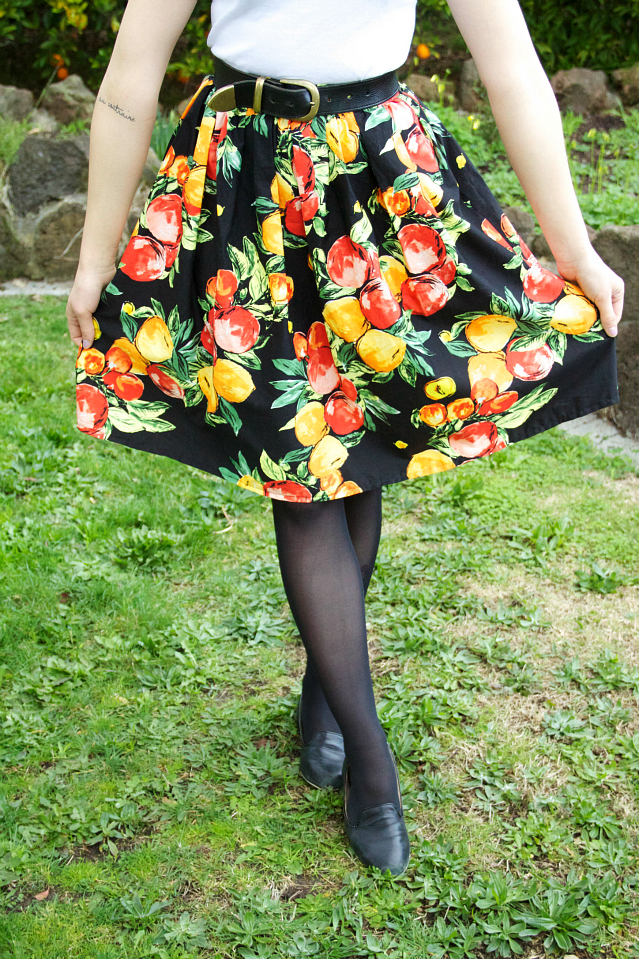 Fruit print skirt DIY