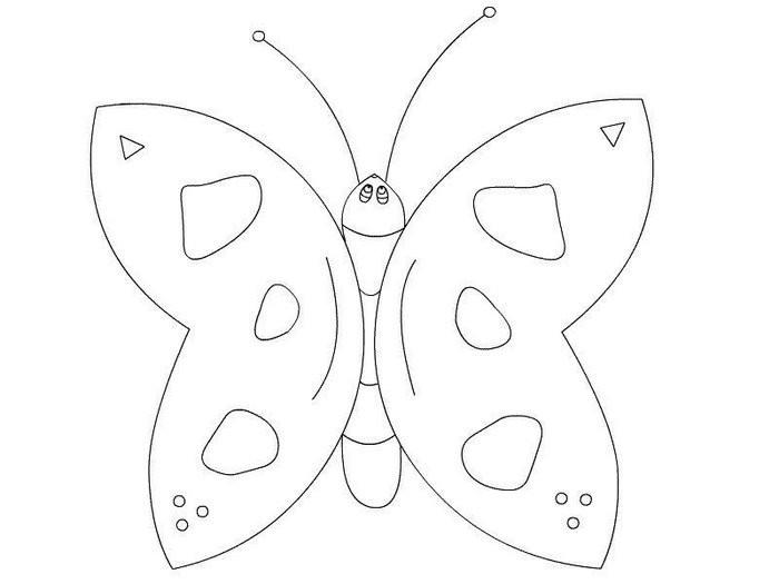 Рисунок бабочек на поделку