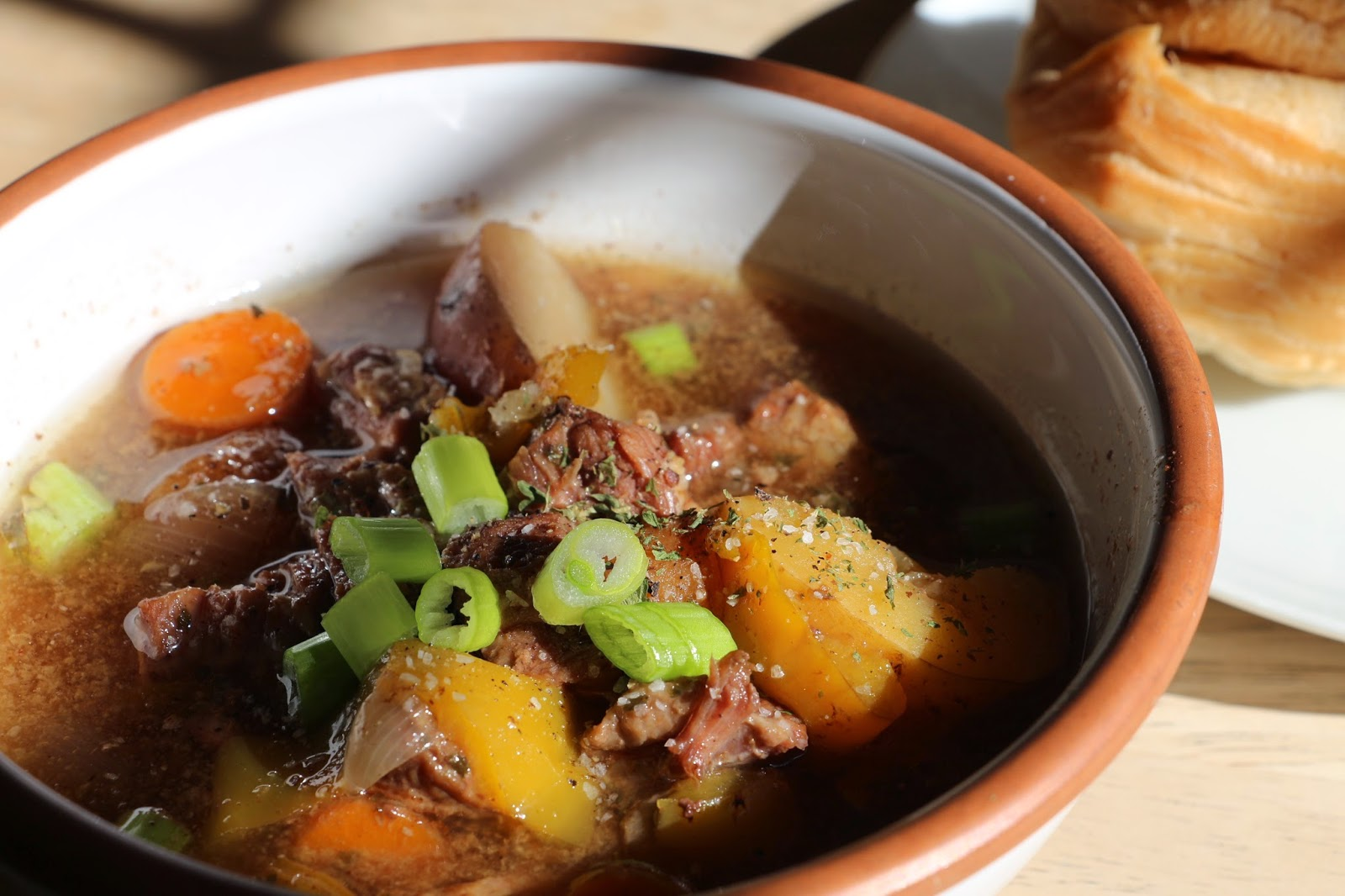 beef stew, slow cooker beef stew, classic beef stew, yellow pepper beef stew