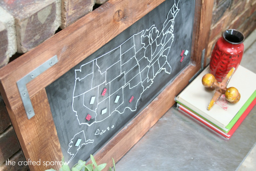 DIY Travel Map Chalkboard – Travel Marker Map