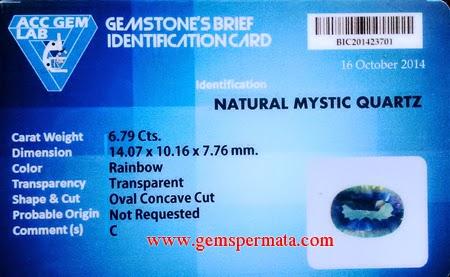 Cincin Natural Mystic Quartz