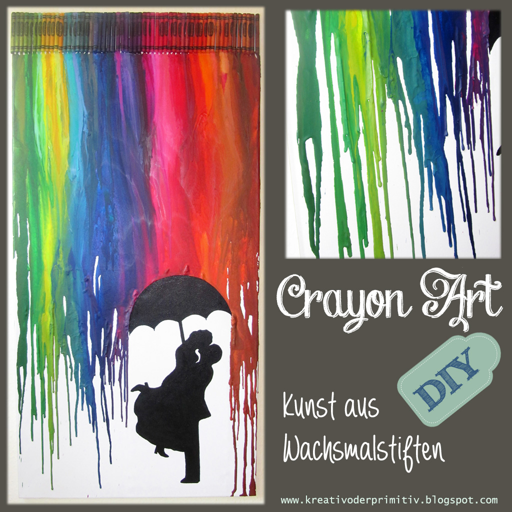 kreativ oder primitiv crayon art p rchen im regen. Black Bedroom Furniture Sets. Home Design Ideas