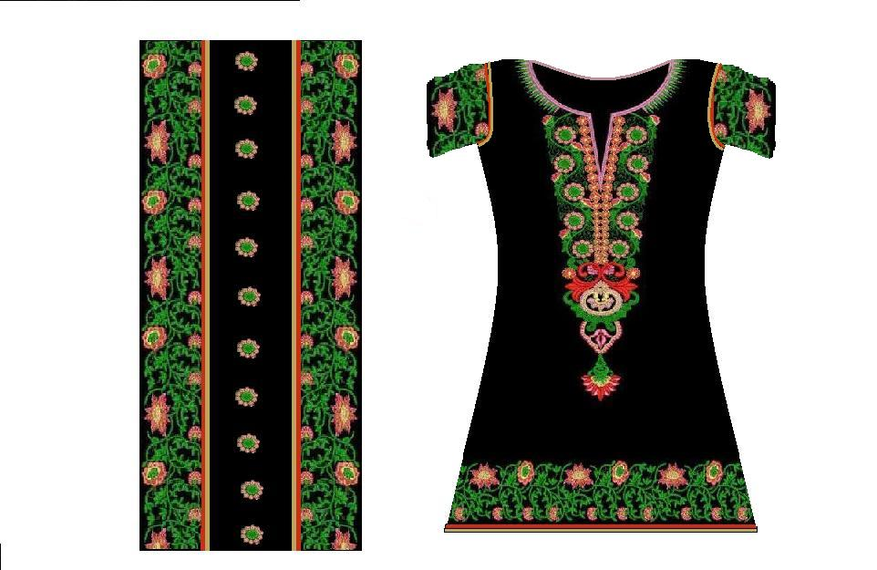 Fashion pakistani multan embroidery clothing Fashion embroidery designs