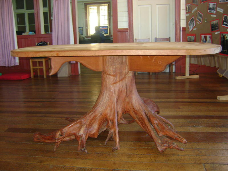 Muebles de alerce rustico mesa de comedor for Muebles de oficina rusticos