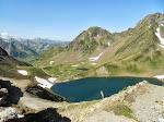 Lacs du Montaigu et pic du Midi.