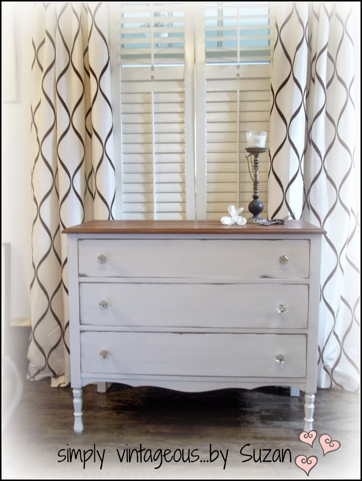 White chalk paint dressers makeover