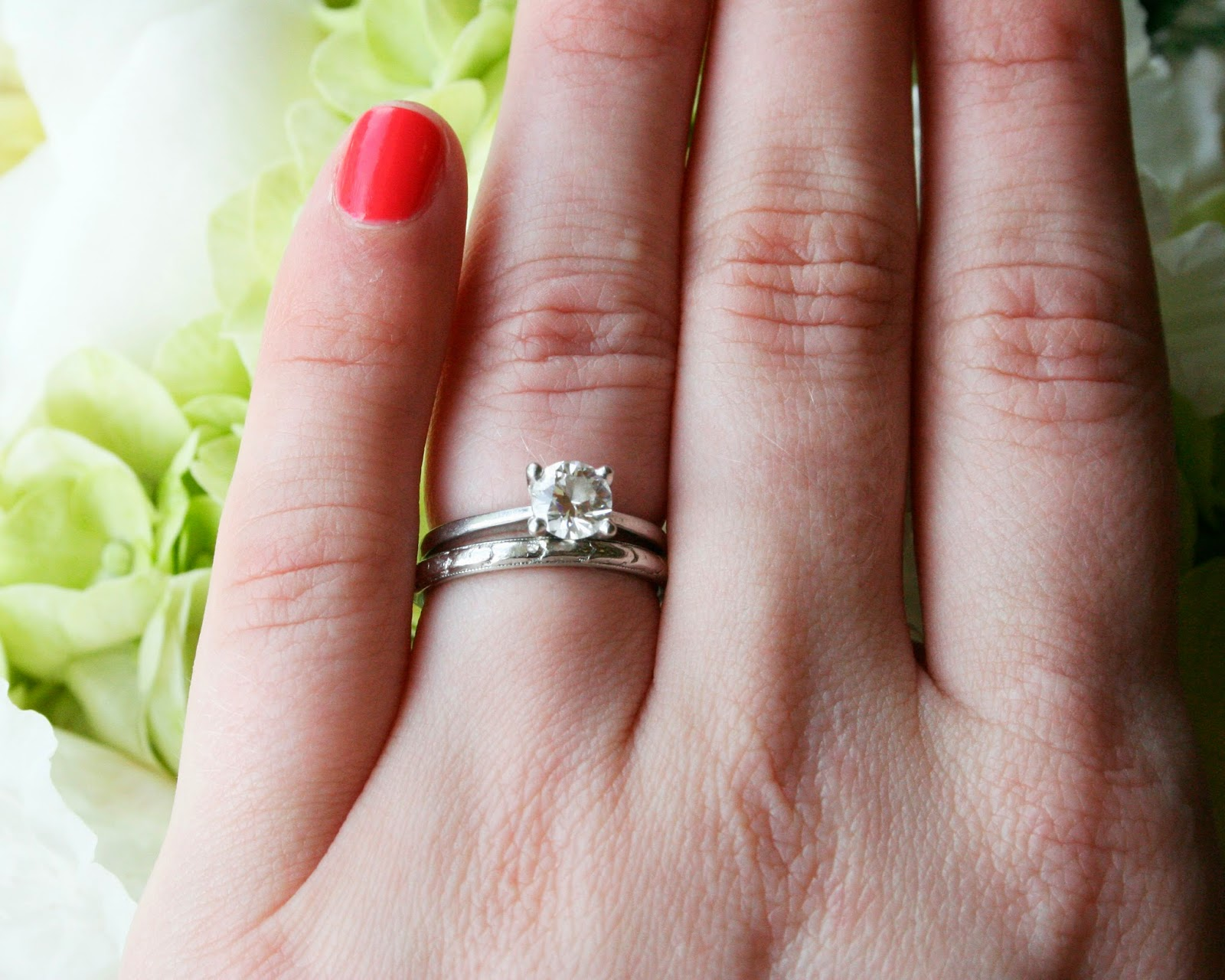 mix match your vintage and new wedding and engagement rings - How Do You Wear Your Wedding Rings