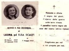 LE SORELLE LAURA E ELSA SCALFI DI 16 E 17 ANNI