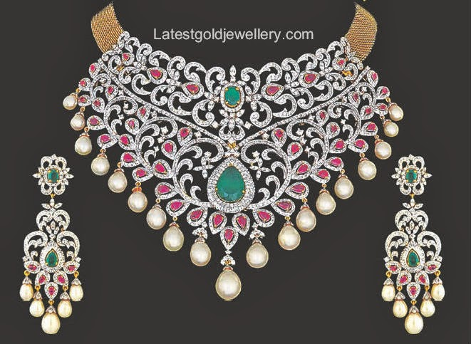 rich bridal diamond necklace