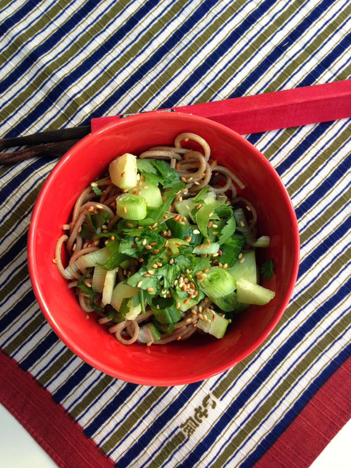 Nuts about food: Cold peanut soba noodle salad