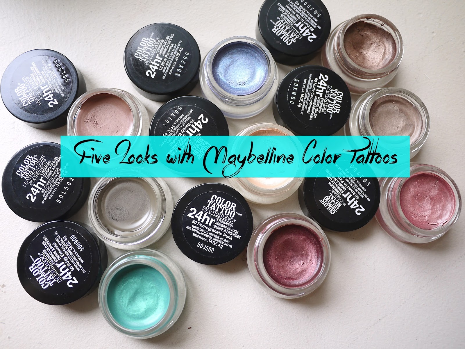 maybelline color tattoo swatches looks tutorial
