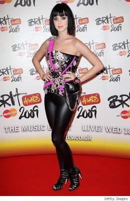 Katy Perry wearing Hello Kitty corset