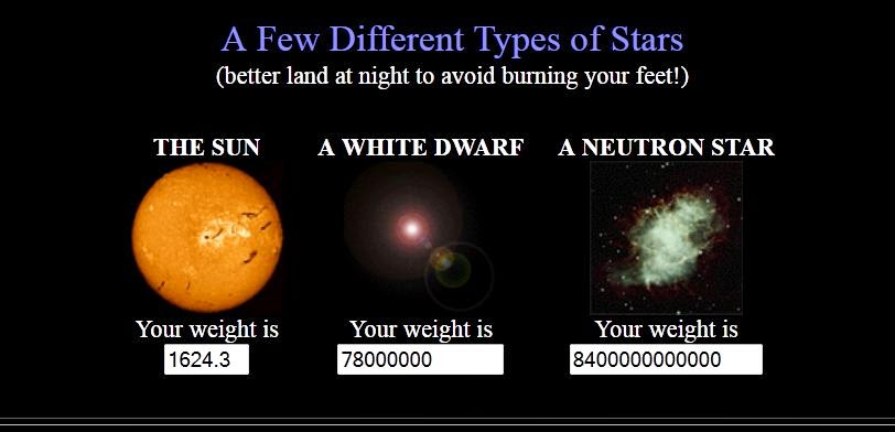 UFO WORLD: What is your weight on other Planets..?