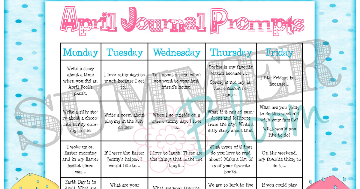 ... Bloom: Teach. Create. Party: Monthly Journal Prompt Calendar Unit