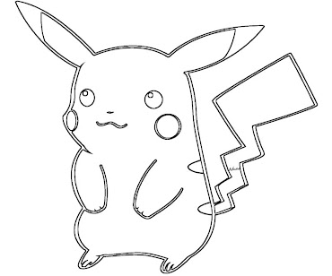 #11 Pikachu Coloring Page