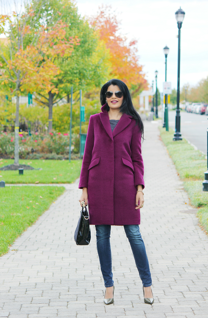 H&M Oversized Coat, H&M purple coat, Oversized wool coat, Colorful coats for winter, Purple Wool Coat, Purple Coat