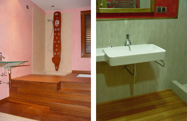 Madera en cocinas y ba os espacios en madera - Tarima para banos ...
