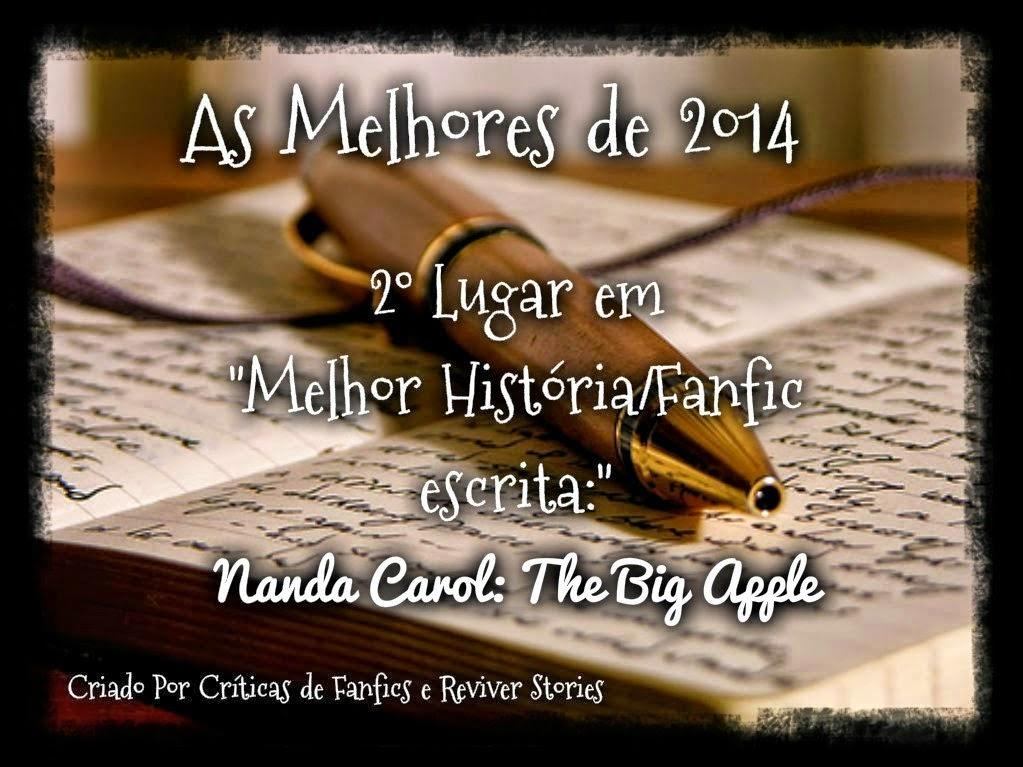 """2º lugar em """"Melhor história/Fanfic escrita"""" em 2014"""