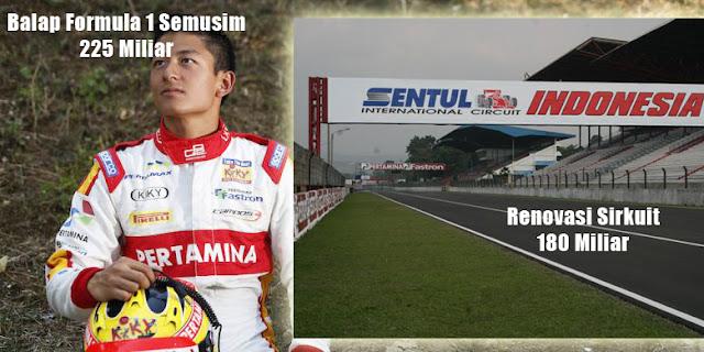rio haryanto habiskan banyak dana balapan di formula 1