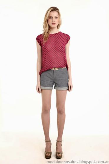Sieben primavera verano 2014 Blusas con transparencias moda 2014.