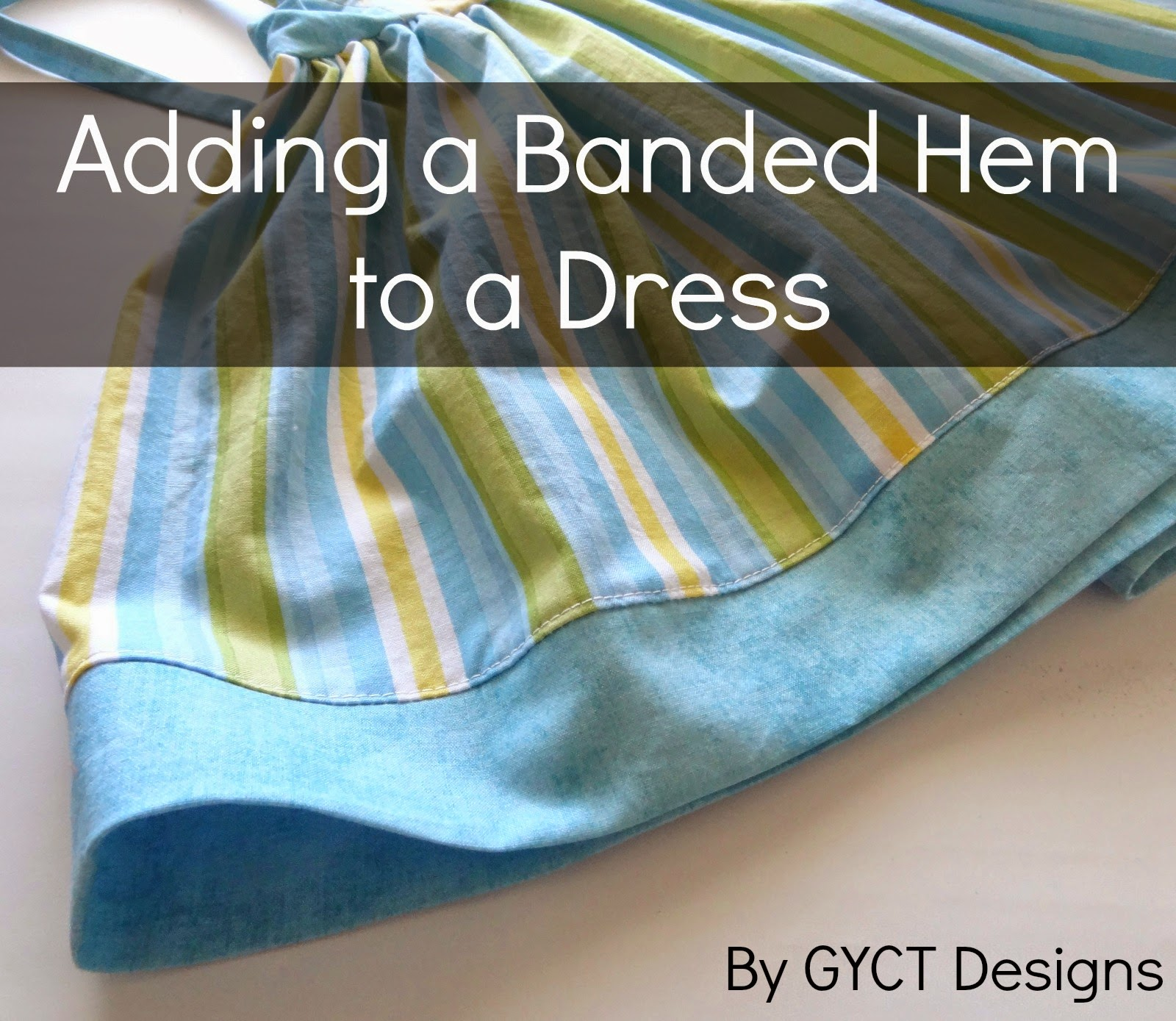 Adding a Banded Hem to a Dress by GYCT
