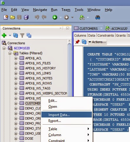 Import data into oracle database table from microsoft - Oracle sql developer copy table ...