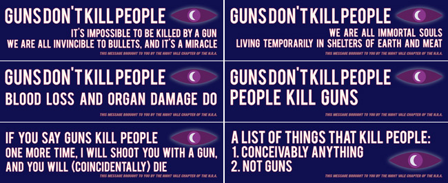 welcome to night vale quotes guns