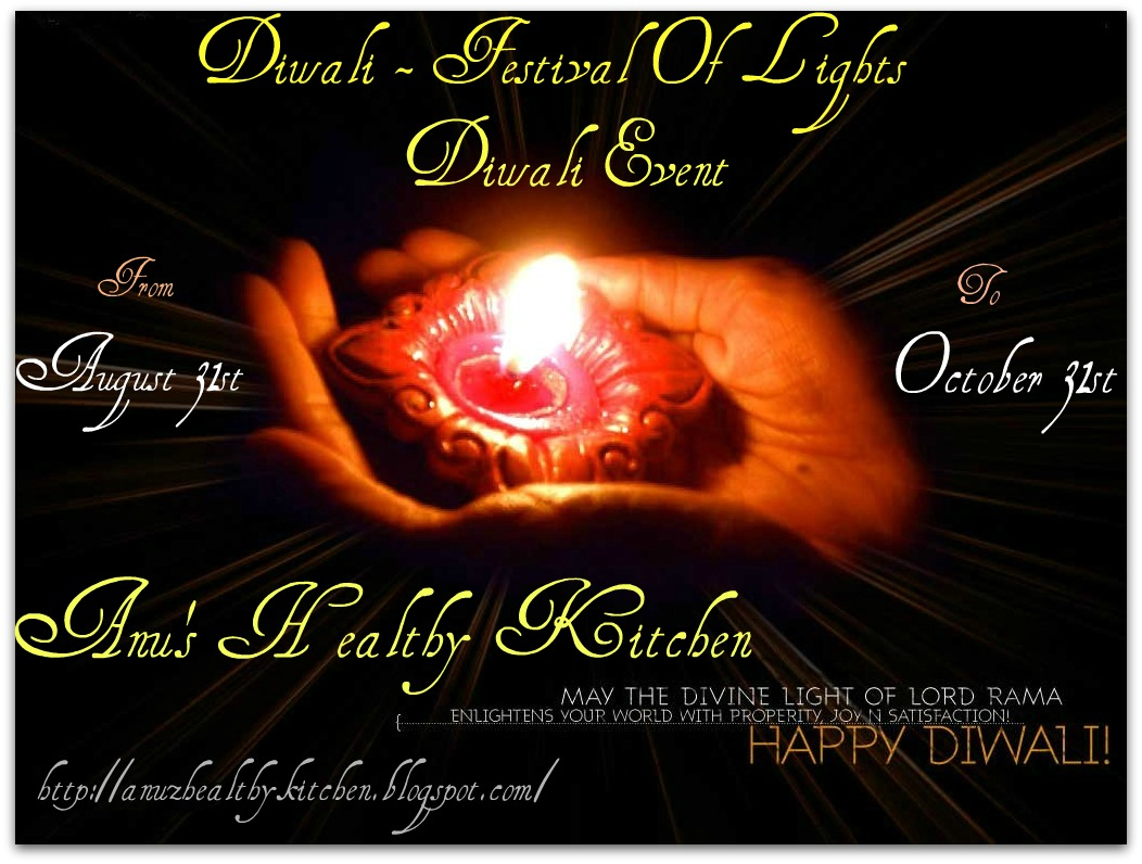 this recipe to ' Diwali-festival of lights event ', ' My Diwali ...