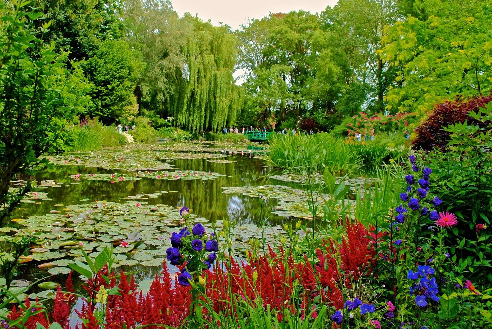 Monet's Garden Waterlilies with Japanese Bridge