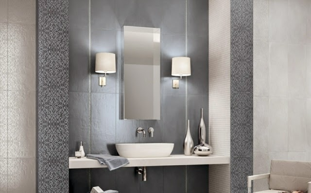 New tile design ideas and trends for modern bathroom designs for Modern bathroom wall tile designs