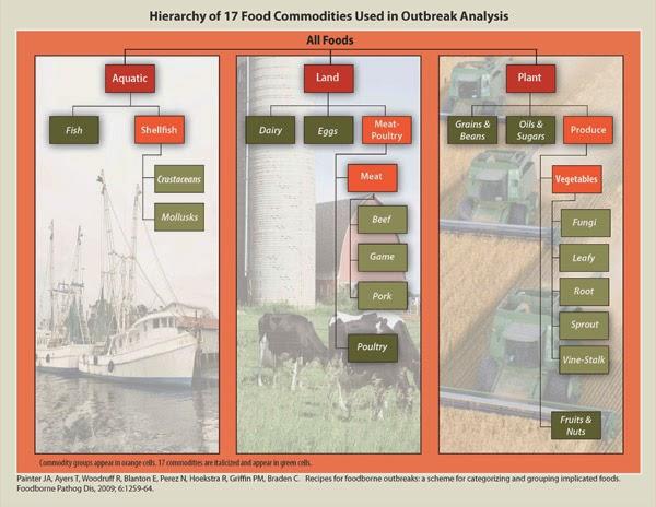 Clasificación por categorías alimentarias de las intoxicaciones
