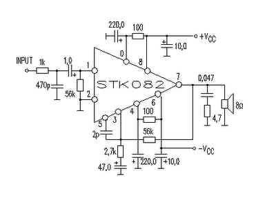 35w Audio Amplifier Circuit By Stk082