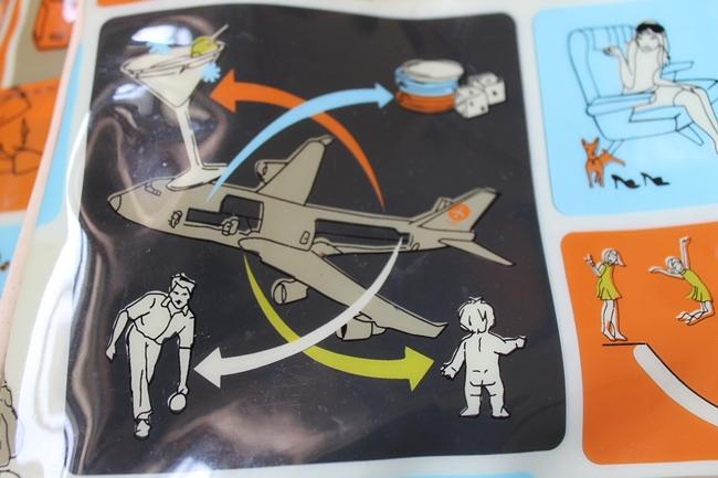 transversion retro airplane humor travel bag