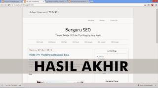 Hasil Akhir Belajar Cara Edit Template Blogger