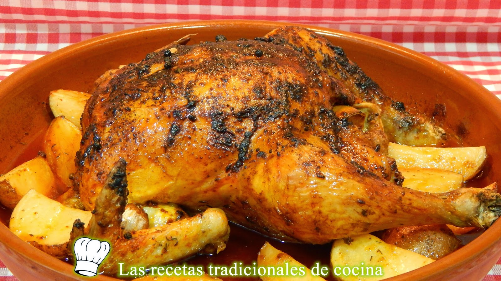 Pollo adobado al horno