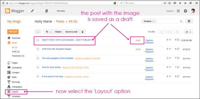 draft post on blogger