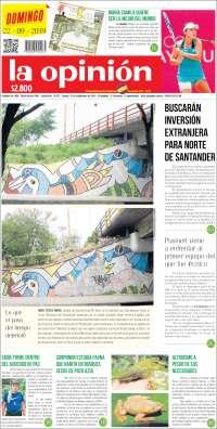 PRIMERA PAGINA DE LA OPINION DE COLOMBIA
