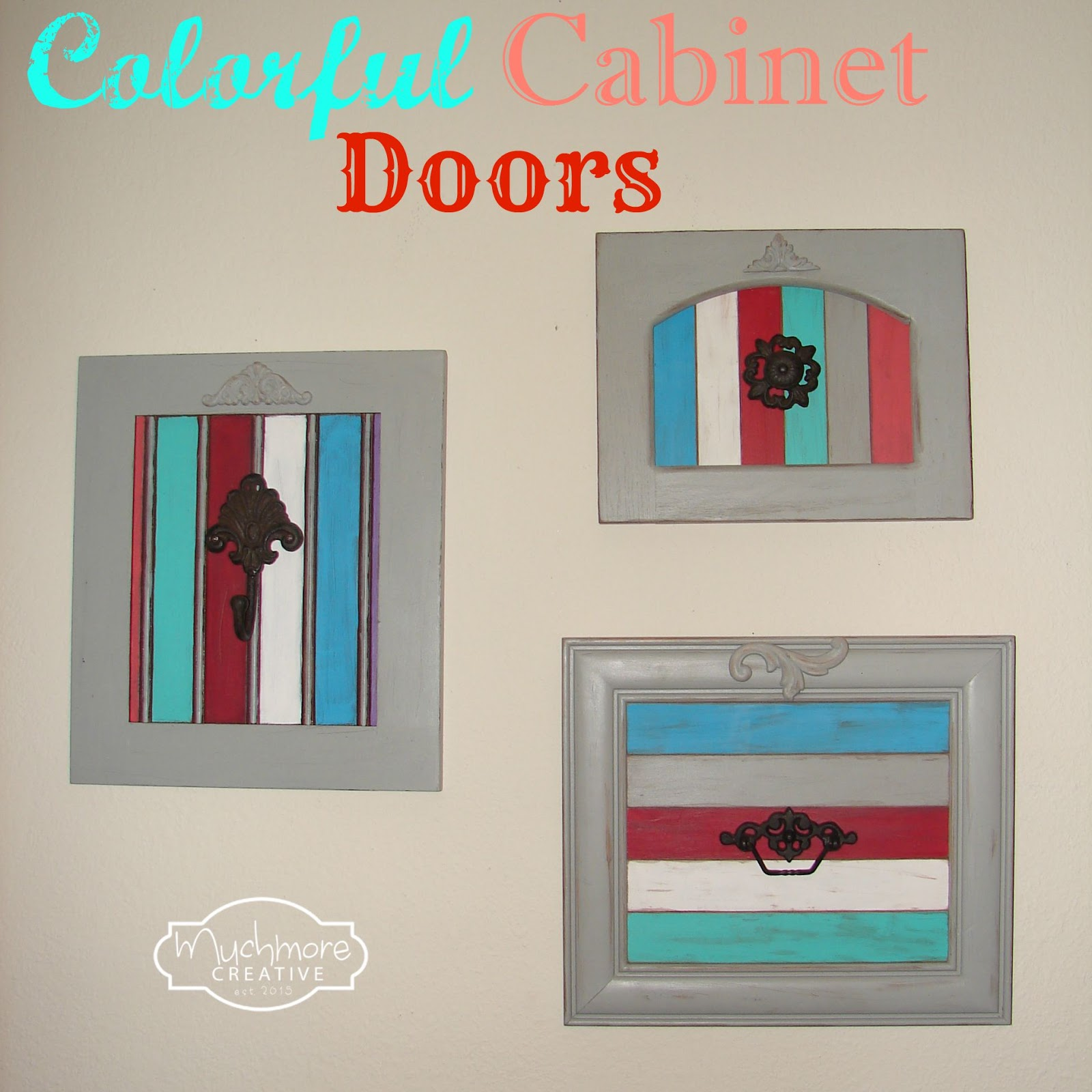 Muchmore Creative Colorful Cabinet Doors
