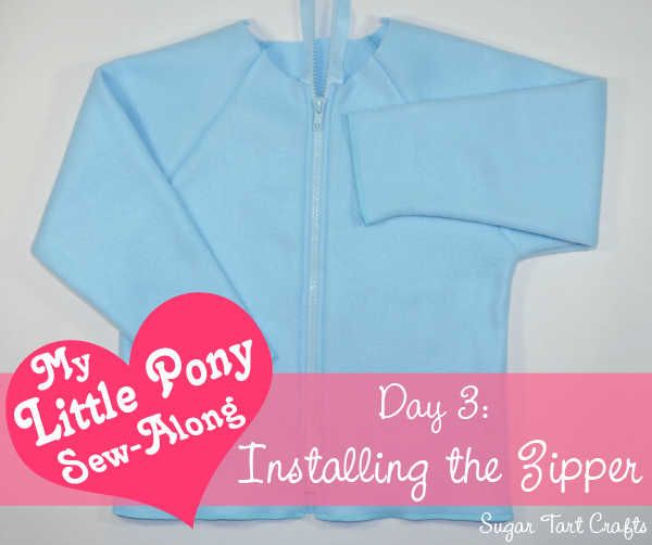 My Little Pony Costume : Installing the Zipper (a sew-along tutorial)