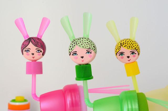 Homedecor: animali hand made realizzati riciclando tappi di bottiglia