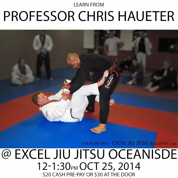 Chris Haueter teaches special BJJ Jiu Jitsu class at Excel Jiu Jitsu Oceanside