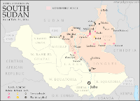 Map of rebel control in South Sudan's civil war as of February 2014
