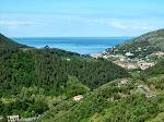 Blick aufs Meer und das Tal von Levanto