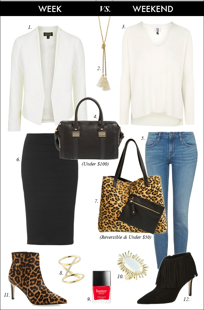 how to wear leopard, fall booties, fringe, reversible tote, what to wear work
