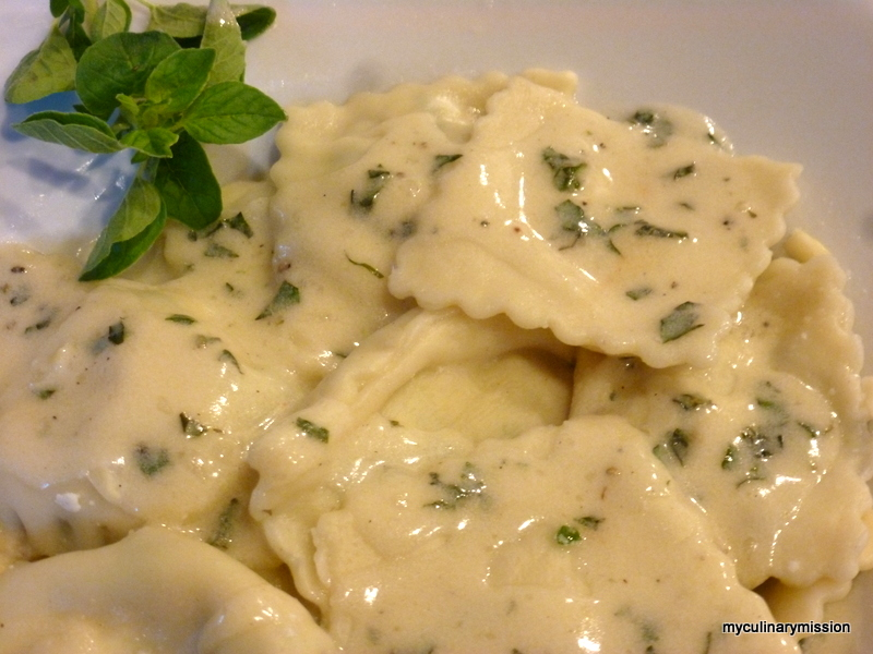 ravioli with garlic tomato cream sauce sour cream garlic sauce ...