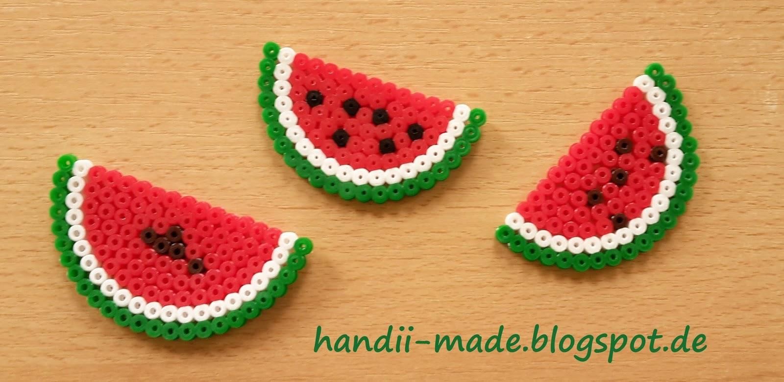 Handii Made Melone Aus Bügelperlen