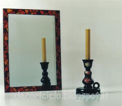 Decoriciclo: creare una cornice ad uno specchio, con la pittura su ...