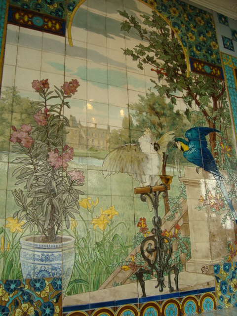 1000 images about tile murals on pinterest delft for Delft tile mural